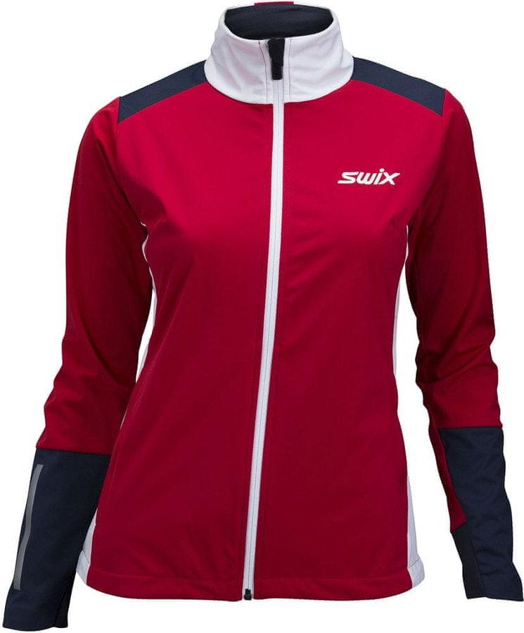 Červená dámská bunda na běžky Swix
