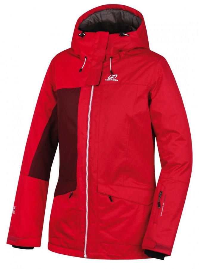 Červená zimní dámská bunda Hannah - velikost S