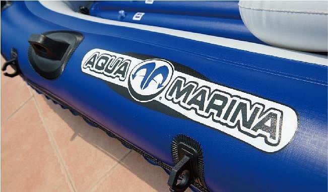 Modrý rybářský člun s nafukovacím dnem pro 2 osoby + 1 dítě Wildriver, Aqua Marina