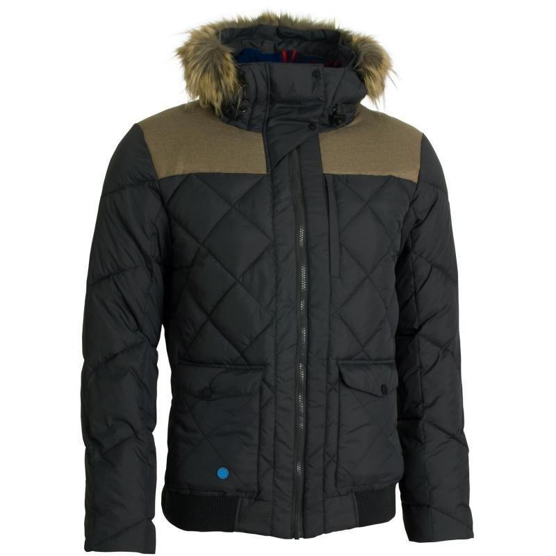 Černá zimní pánská bunda s kapucí Woox - velikost XS