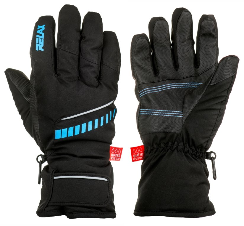 Lyžařské rukavice - Relax DOWN lyžařské rukavice Barva: RR12C (černá, modrá), Velikost: XXL