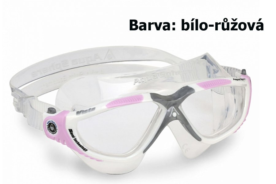Růžové dámské plavecké brýle TORA, Aqua Sphere