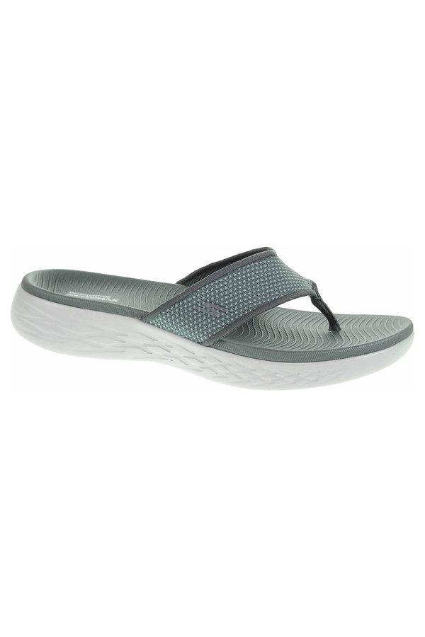 Šedé pánské pantofle Skechers