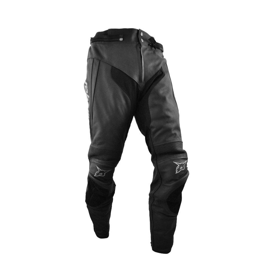 Černé pánské motorkářské kalhoty Stroke, Rebelhorn - velikost 3XL