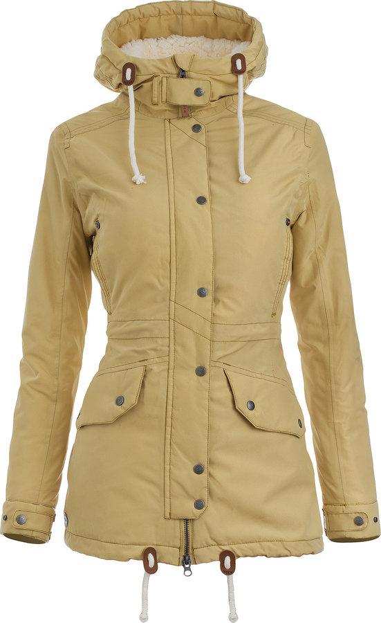 Zelená zimní dámská bunda s kapucí Woox - velikost 40