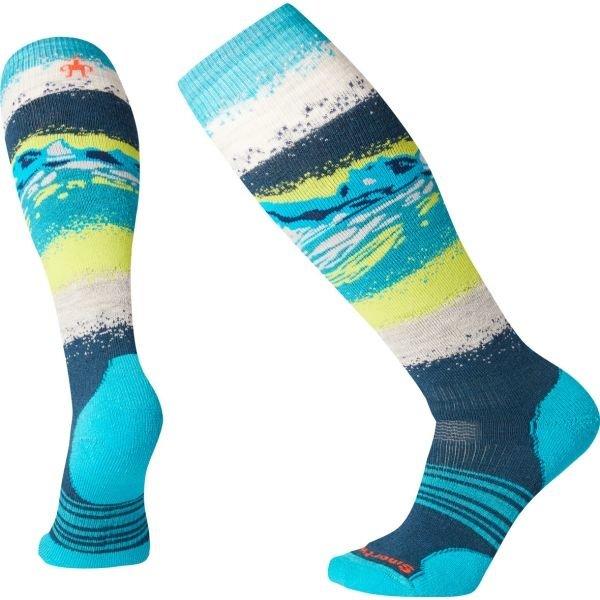 Modré dámské lyžařské ponožky SmartWool - velikost L