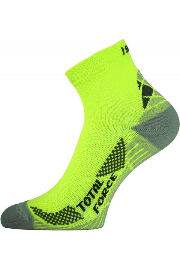 Žluté pánské běžecké ponožky Lasting