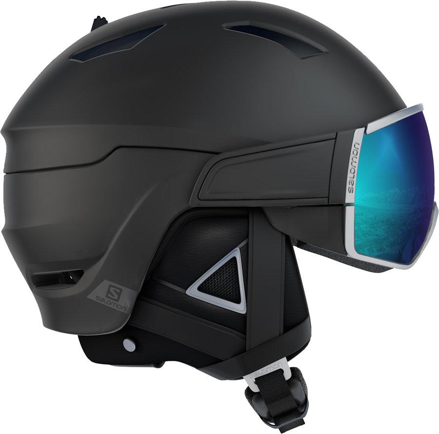 Černo-stříbrná lyžařská helma Salomon - velikost 59-62 cm