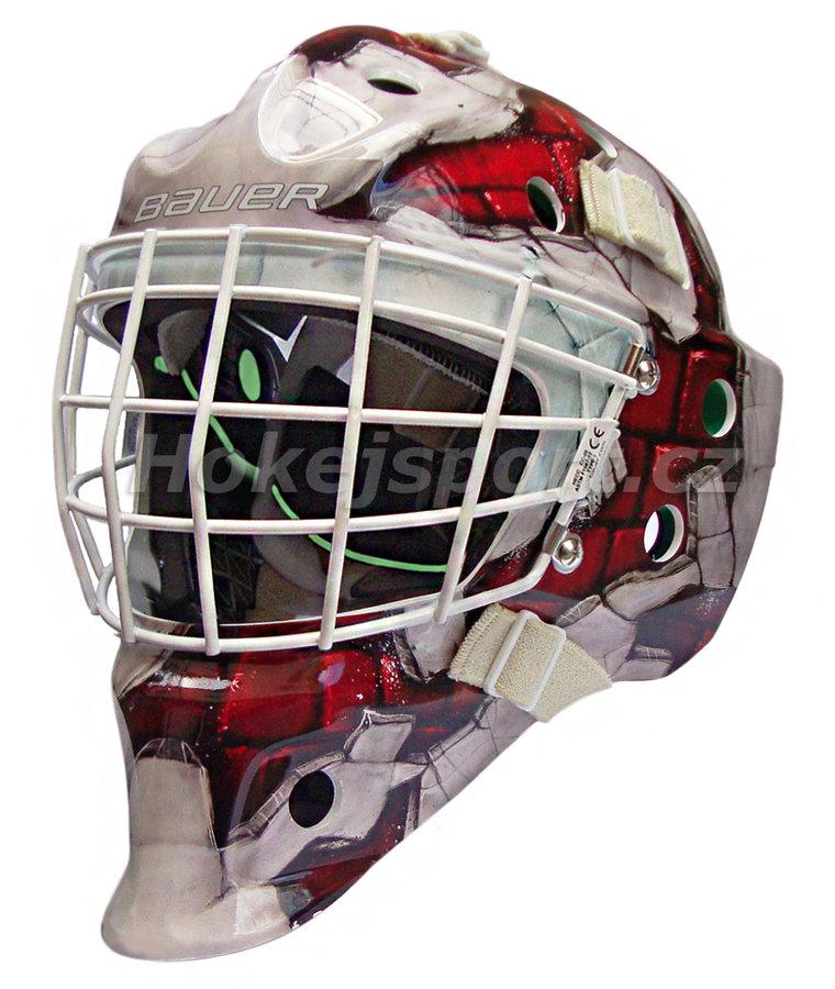 Brankářská maska - Brankářská maska Bauer NME 4 Senior WALL RED Barva: Wall RED