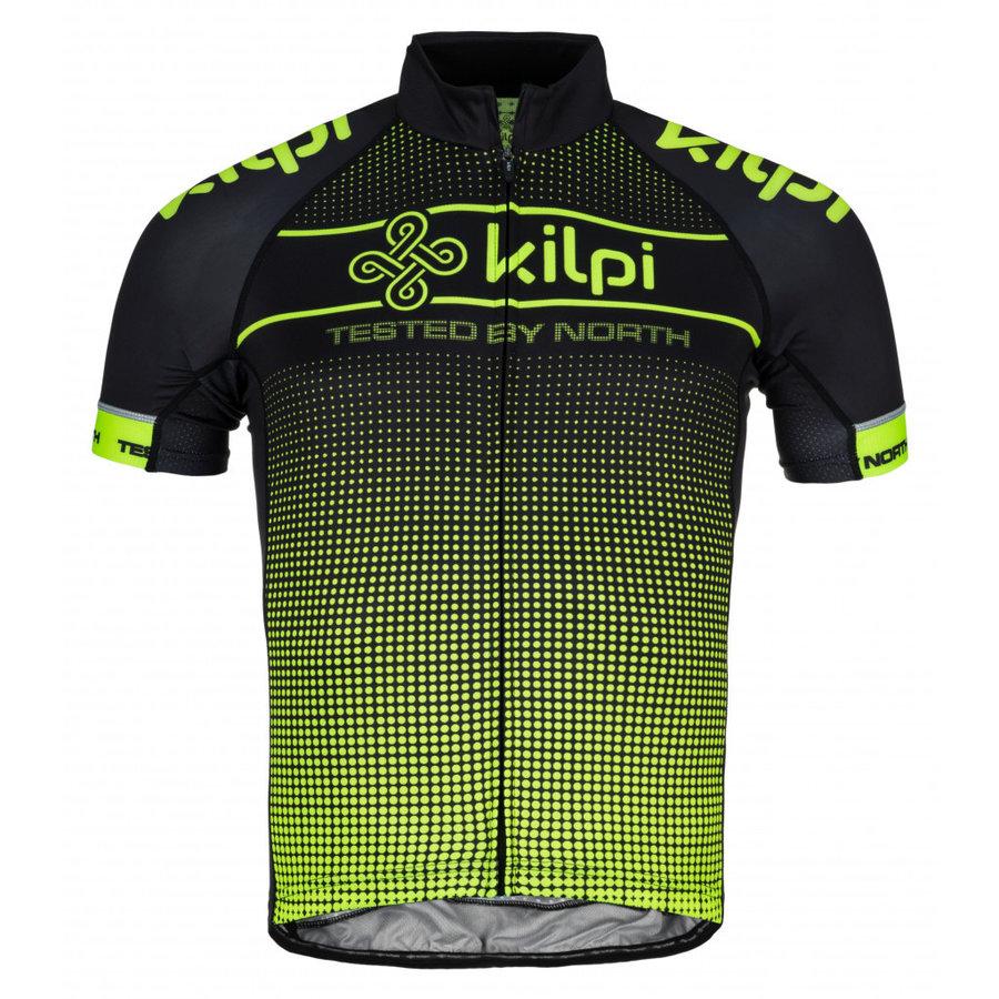 Černo-zelený pánský cyklistický dres Kilpi - velikost M