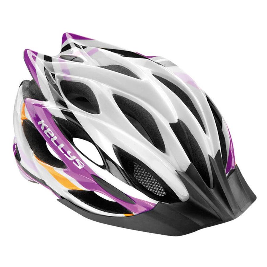 Bílo-fialová cyklistická helma Dynamic, Kellys - velikost 58-61 cm