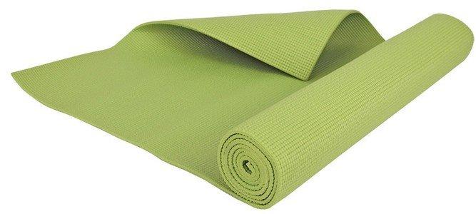 Zelená podložka na jógu Hop-Sport - délka 173 cm a tloušťka 4 mm