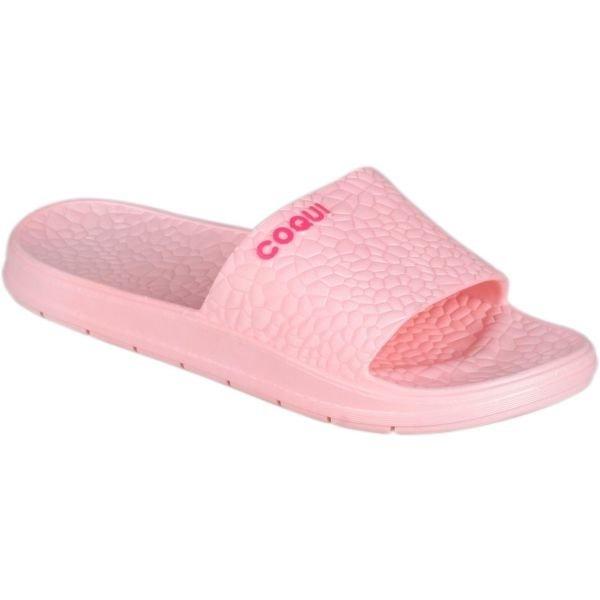 Růžové dámské pantofle Coqui