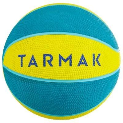 Modro-žlutý basketbalový míč Mini, Tarmak - velikost 1