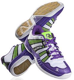 Bílo-fialové dámské sálová obuvi Race R5 2.0, Salming - velikost 36,5 EU