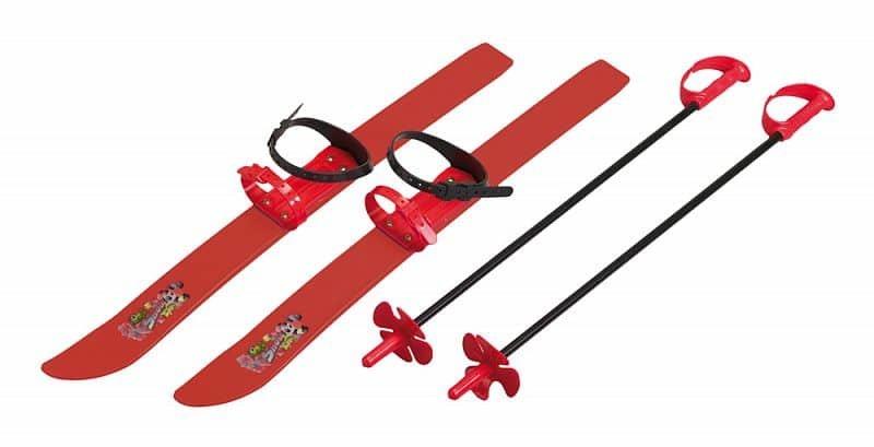 Červená dětská sada na sjezdové lyžování Spartan - délka 66 cm