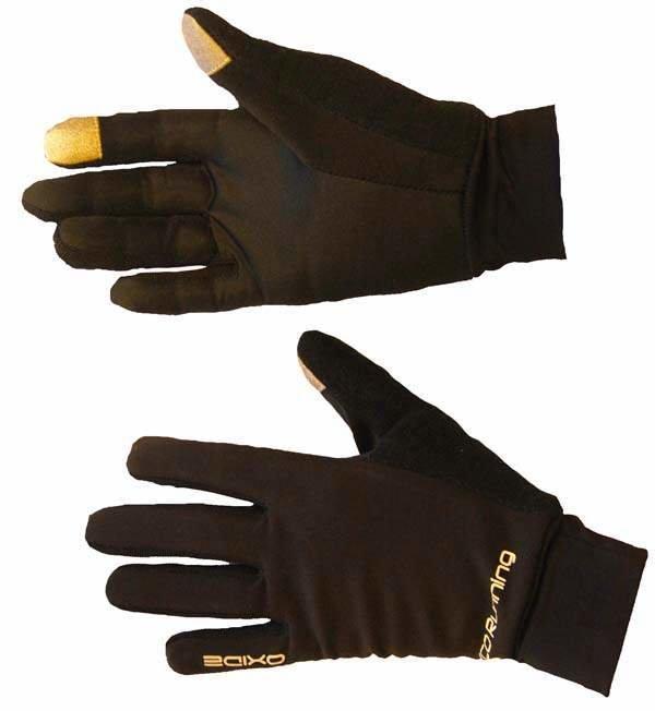 Hnědé polyesterové zimní pánské nebo dámské běžecké rukavice Lasting
