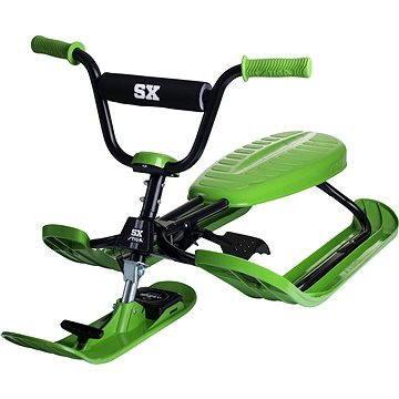 Zelené dětské boby s brzdami Stiga