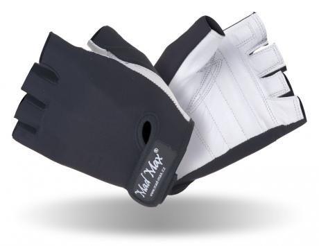 Bílo-černé pánské fitness rukavice Mad Max
