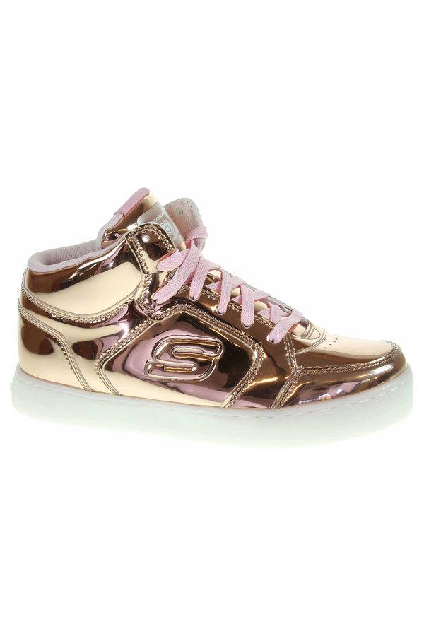 Zlaté dívčí kotníkové boty Skechers
