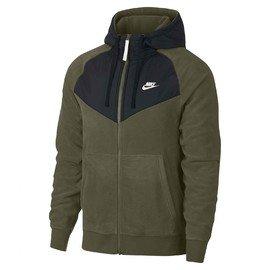 M nsw hoodie fz core   929114-395   Zelená   S