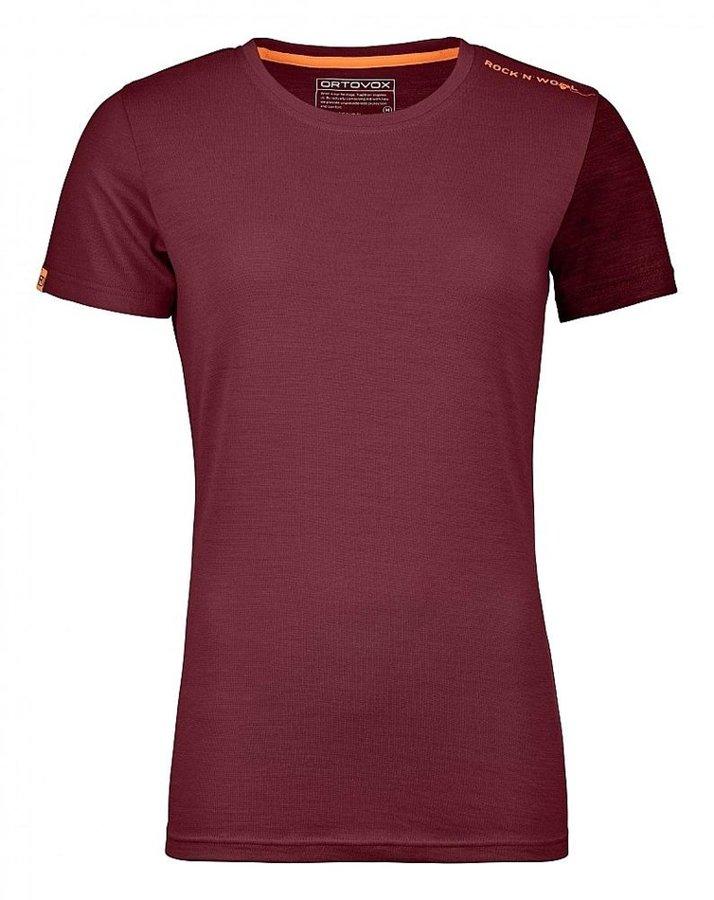 Červené dámské termo tričko s krátkým rukávem Ortovox
