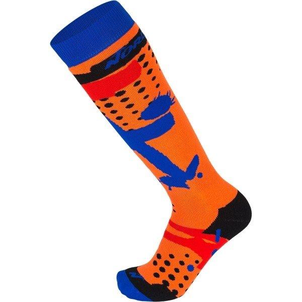 Modro-oranžové dětské lyžařské ponožky Nordica - velikost M