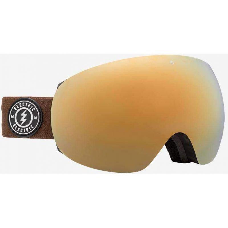 Hnědé brýle na snowboard Electric