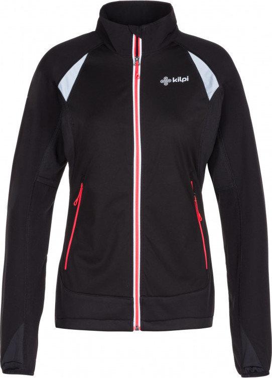 Černá dámská bunda na běžky bez kapuce Kilpi - velikost 38