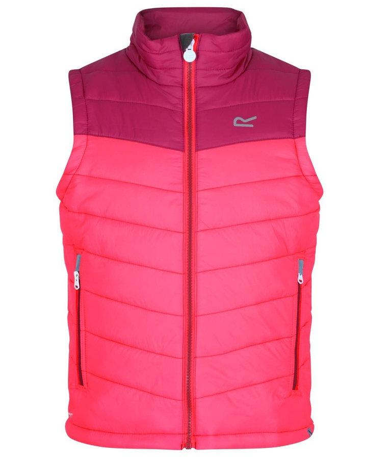 Růžová dívčí vesta Regatta