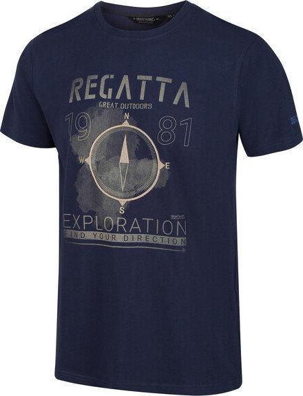 Modré pánské tričko s krátkým rukávem Regatta