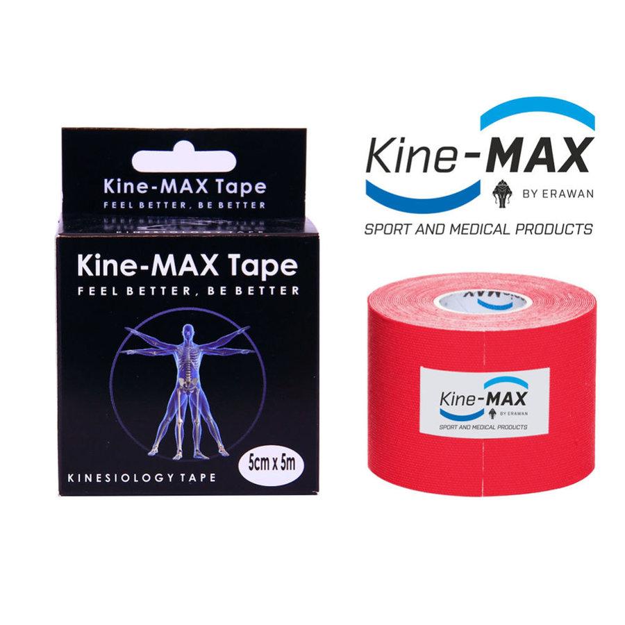 Červená tejpovací páska kine-max - délka 5 m a šířka 5 cm