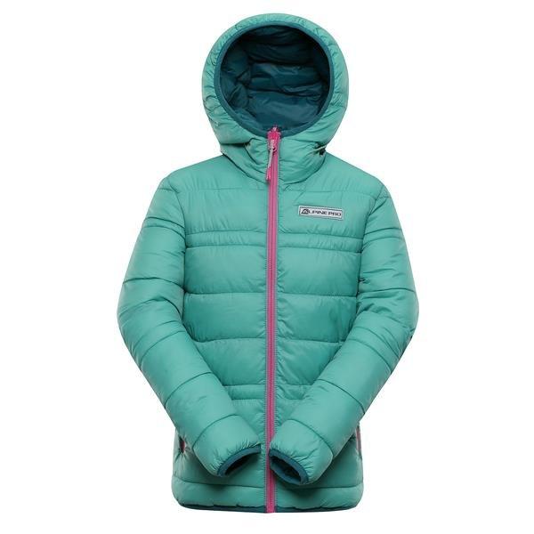 Modrá dětská zimní bunda s kapucí Alpine Pro - velikost 128-134