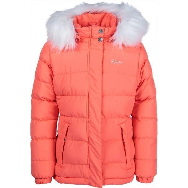 Oranžová dívčí bunda Lewro