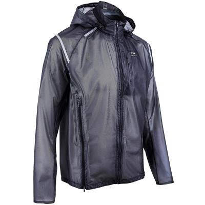Černá běžecká bunda Kiprun, Kalenji