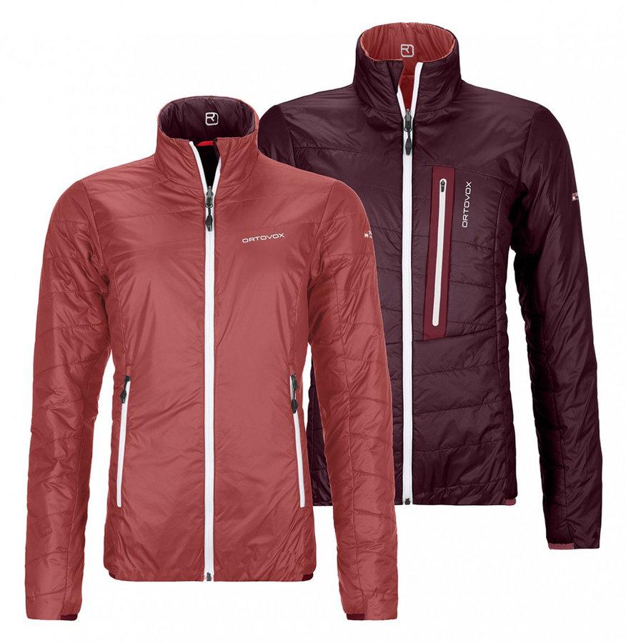 Červená nebo fialová dámská bunda na běžky bez kapuce Ortovox