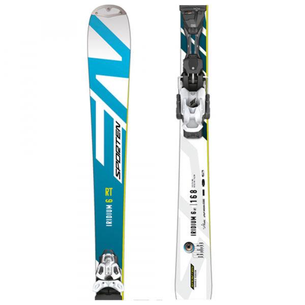 Bílo-modré pánské lyže s vázáním Sporten - délka 160 cm