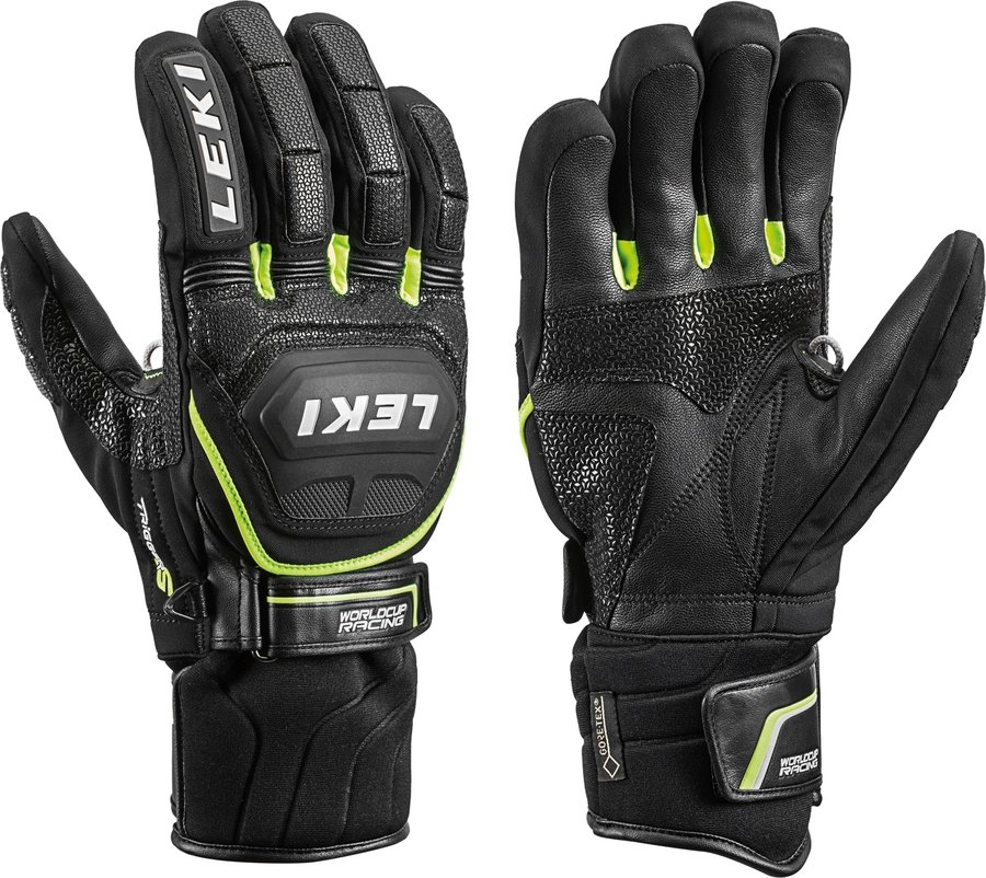 Černé pánské lyžařské rukavice Leki