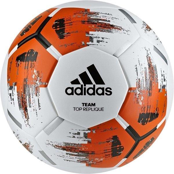 Bílo-oranžový fotbalový míč Adidas