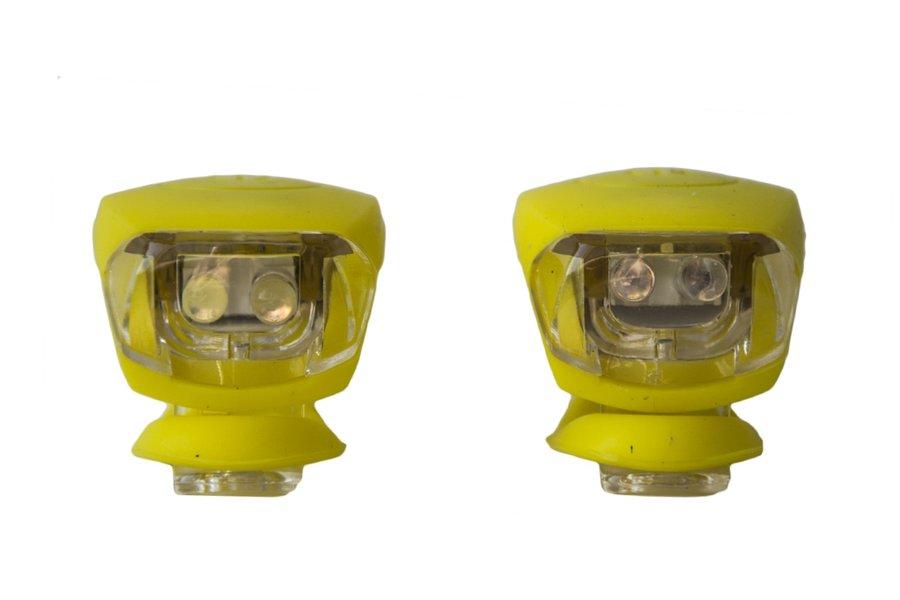 Světlo na kolo - Blikačka silikonová MAXBIKE sada - žlutá