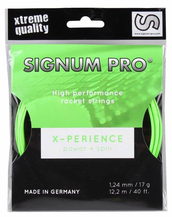 Tenisový výplet - X-perience tenisový výplet 12 m barva: zelená;průměr: 1,24