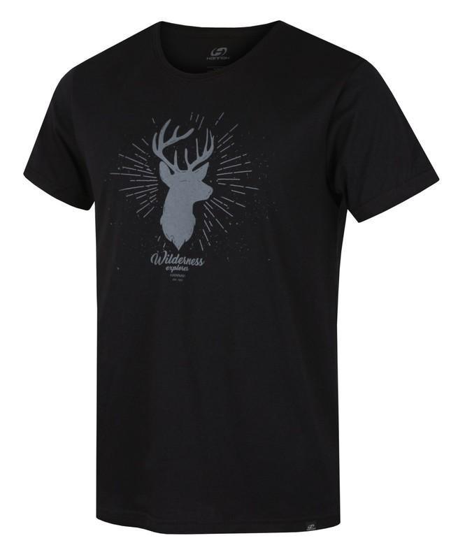 Černé pánské tričko s krátkým rukávem Hannah