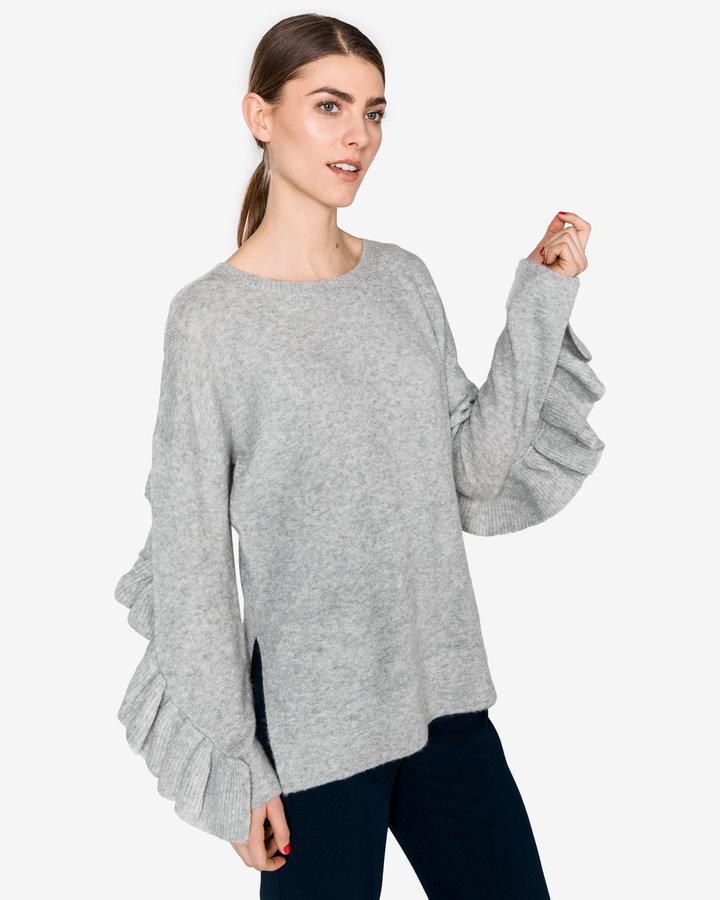 Šedý dámský svetr French Connection