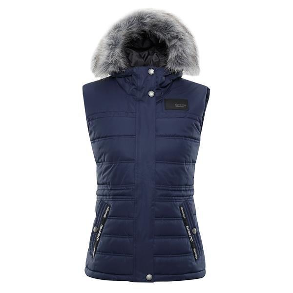Modrá zimní dámská vesta Alpine Pro - velikost XL