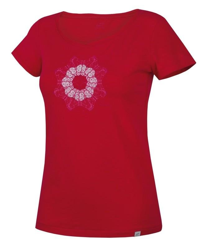 Červené dámské tričko s krátkým rukávem Hannah - velikost 34