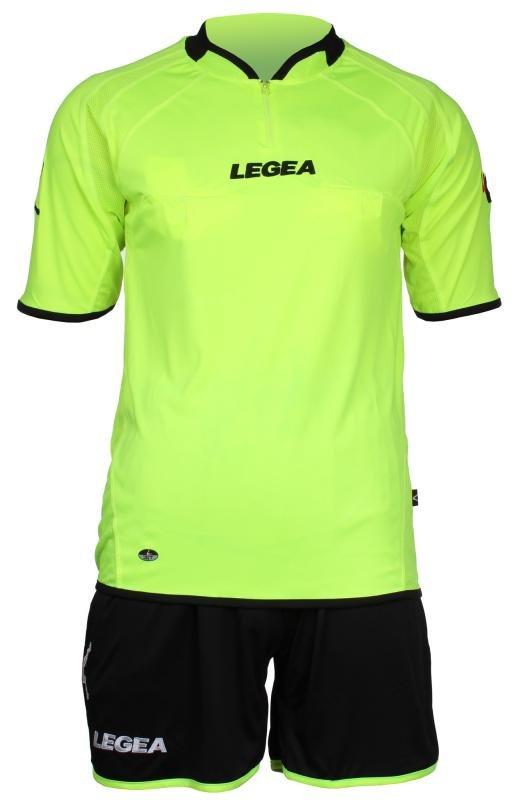 Červený fotbalový dres pro rozhodčího s krátkým rukávem Drive, Legea - velikost M