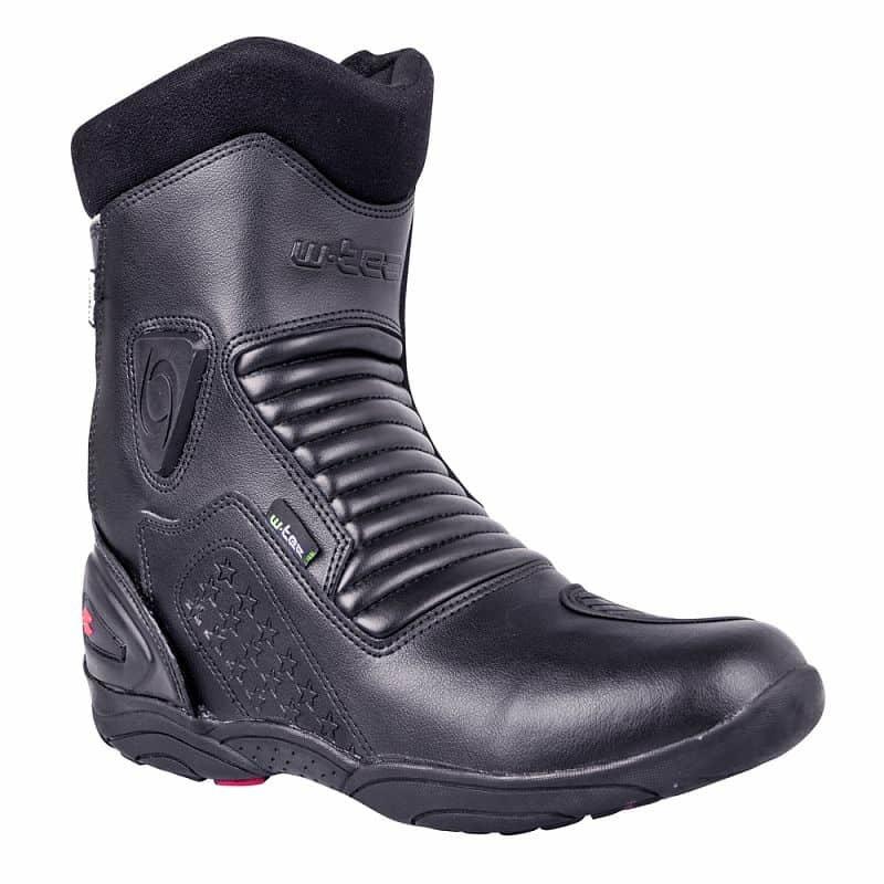 Černé vysoké motorkářské boty Benkoff NF-6052, W-TEC