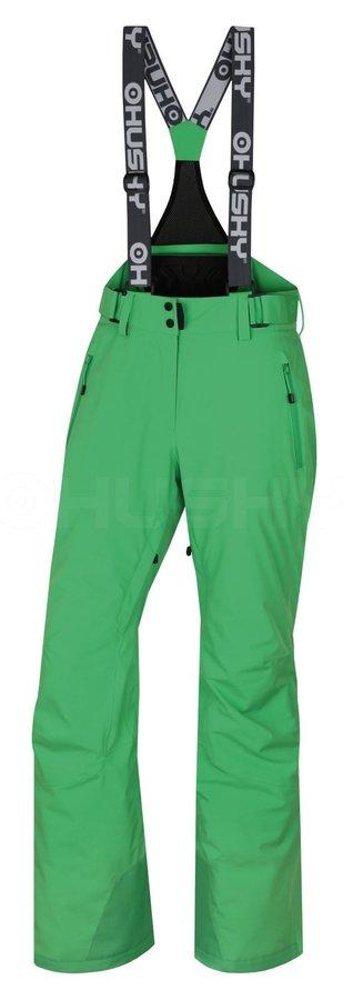 Zelené dámské lyžařské kalhoty Husky - velikost XL