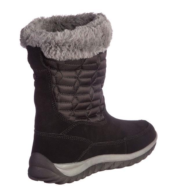Černo-šedé dámské zimní boty Alpine Pro