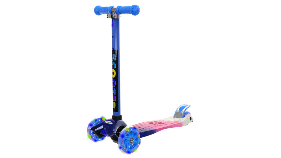 Modrá dětská trojkoloběžka MAXI SCOOTER, SKITT - nosnost 40 kg